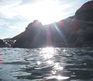 The sinking sun