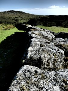 Gorgeous granite walls grace to tors hereabouts