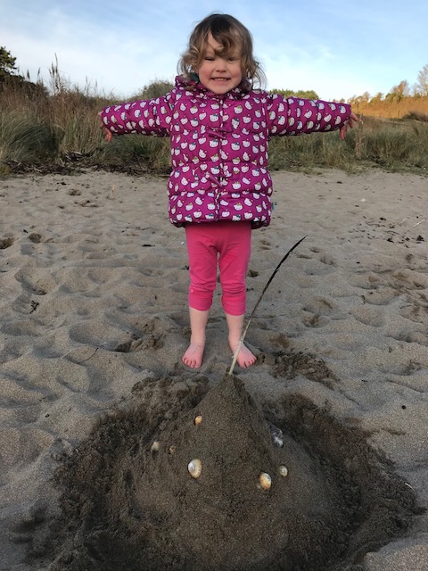 Mothecombe sandcastle delight